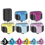 8 Pack HP 02 Compatible Inkjet Cartridges C8721WA-C8775WA [3BK,1C,1M,1Y,1LC,1LM]