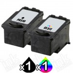 2 Pack Canon PG-510 & CL-511 Compatible Value Pack [1BK,1C]