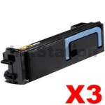 3 x Non-Genuine TK-884K Black Toner Cartridge For Kyocera FS-C8500DN - 25,000 pages