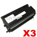 3 x Brother TN-7600 Black Compatible Toner Cartridge 6500 pages