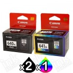 3-Pack Canon PG-640XL, CL-641XL Genuine High Yield Ink Cartridge [2Black + 1Colour]