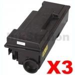 3 x Non-Genuine alternative for TK-3104 Black Toner Kit suitable for Kyocera FS-2100D, FS-2100DN - 12,500 pages