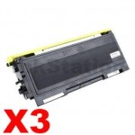 3 x Brother TN-2025 Black Compatible Toner Cartridge - 2,500 pages