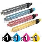 4 Pack Lanier MP-C3500 MP-C4500 Compatible Toner Cartridges 888600-888603 [1BK,1C,1M,1Y]