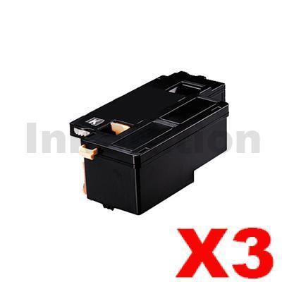 3 x Compatible Fuji Xerox Docuprint CM115 CP115 CP116 CM225 CP225 Black High Yield Toner Cartridge (CT202264) - 2,000 pages