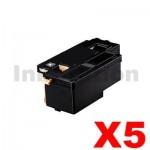 5 x Compatible Fuji Xerox Docuprint CM115 CP115 CP116 CM225 CP225 Black High Yield Toner Cartridge (CT202264) - 2,000 pages