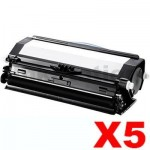 5 x Dell 3330DN Black Compatible Laser Toner Cartridge - 14,000 pages