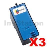 3 x Dell 725 / 810 Colour (FJ33C) Compatible Inkjet Cartridge