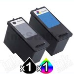 2 Pack Dell 922 924 942 962 964 944 (M4640 + M4646) Compatible Ink Combo [1BK,1C]