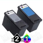 3 Pack Dell 926/V305/V305w (MK990 + MK991) Compatible Ink Combo [2BK,1C]
