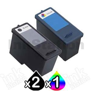 3 Pack Dell 966 / 968 Compatible Ink Combo [CH883 + CH884] - High Capacity [2BK,1C]