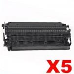 5 x Canon  E-30 / E-31 Black Compatible Toner Cartridge - 3,700 pages
