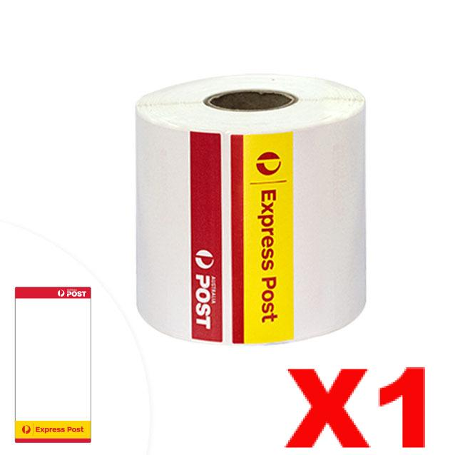 1 Roll Express Post Perforated Direct Thermal Labels 100mm x 206mm - 300 Labels per Roll