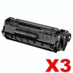 3 x Canon FX-9 Black Compatible Toner Cartridge 2,000 pages