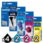 10 Pack Genuine Brother LC-37 Ink Combo [4BK+2C+2M+2Y]