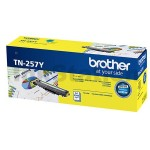 Brother TN-257Y Genuine Yellow Toner Cartridge - 2,300 pages