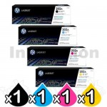 4 Pack HP CF500A-CF503A (202A) Genuine Toner Cartridges [1BK,1C,1M,1Y]
