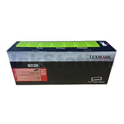 1 x Lexmark 603X (60F3X00) Genuine MX511 / MX611 Black Extra High Yield Toner Cartridge - 20,000 pages