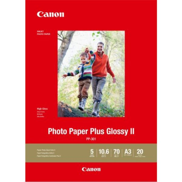 Canon PP301A3 Genuine Photo Paper Plus Glossy 265gsm A3 - 20 sheets