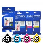 20 Pack Genuine Brother LC-3319XL High Yield Ink Combo [5BK,5C,5M,5Y]