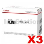 3 x Genuine Canon CART039II Black High Yield Toner - 11,000 pages