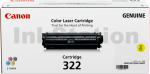 Canon Genuine Yellow Toner Cartridge (CART-322Y) - 7,500 pages