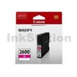 Canon PGI-2600M Genuine Magenta Ink Cartridge - 700 pages