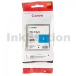 Genuine Canon PFI-102C Cyan Ink Cartridge