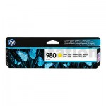 HP D8J09A (980) Genuine Yellow Inkjet Cartridge - 6,600 Pages