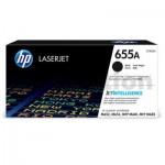 HP 655A (CF450A) Genuine Black Toner Cartridge - 12,500 pages