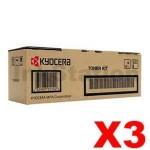 3 x Genuine Kyocera TK-3174 Black Toner Kit P3050DN - 15,500 pages