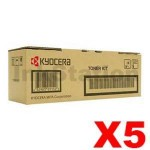 5 x Genuine Kyocera TK-3194 Black Toner Kit P3055DN, P3060DN - 25,000 pages