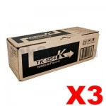 3 x Genuine Kyocera TK-5154K Black Toner Cartridge M-6535CDN, P-6035CDN - 12,000 pages