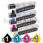 4 Pack Genuine Kyocera TK-8519 Toner Combo TASKalfa 5052CI, 6052CI [1BK,1C,1M,1Y]