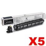 5 x Genuine Kyocera TK-8529K Black Toner Cartridge - 30,000 pages