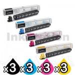 3 sets of 4 Pack Genuine Kyocera TK-8529 Toner Combo TASKalfa 4052CI [3BK,3C,3M,3Y]