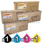 4 Pack Oki Genuine C710N/ C711N Toner Combo (44318612-44318609)