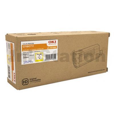 Oki Genuine C710N/ C711N Yellow Toner Cartridge - 11,500 pages (44318609)