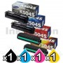 4 Pack Genuine Samsung CLP415N CLP415NW CLX4195FW CLX4195FN Toner Cartridge Set CLT-504