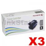 3 x Genuine Fuji Xerox Docuprint CM115 CP115 CP116 CM225 CP225 Black High Yield Toner Cartridge (CT202264) - 2,000 pages