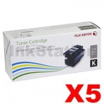 5 x Genuine Fuji Xerox Docuprint CM115 CP115 CP116 CM225 CP225 Black High Yield Toner Cartridge (CT202264) - 2,000 pages