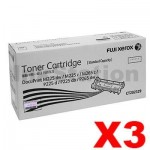 3 x Fuji Xerox DocuPrint M225,M265,P225,P265 Genuine Black Toner Cartridge (CT202329) - 1,200 pages