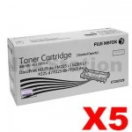 5 x Fuji Xerox DocuPrint M225,M265,P225,P265 Genuine Black Toner Cartridge (CT202329)- 1,200 pages