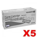 5 x Fuji Xerox DocuPrint M225,M265,P225,P265 Genuine Black High Yield Toner Cartridge (CT202330) - 2,600 pages