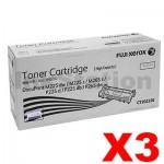 3 x Fuji Xerox DocuPrint M225,M265,P225,P265 Genuine Black High Yield Toner Cartridge (CT202330) - 2,600 pages