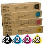 2 sets of 4 Pack Fuji Xerox DocuPrint CM415AP Genuine Toner Combo (CT202352-CT202355)