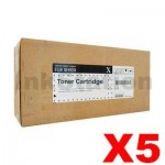 5 x Fuji Xerox DocuPrint M465AP Genuine Black High Yield Toner Cartridge - 25,000 pages (CT202373)