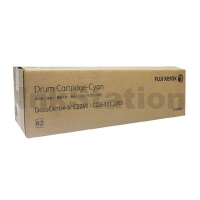 Genuine Fuji Xerox DocuCentre IV C2260, C2263, C2265 Cyan Drum Unit (CT350948) - 60,000 pages