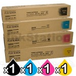 4 Pack Fuji Xerox DocuCentre SC2020 Genuine Extra High Yield Toner Combo (CT202396-CT202399)