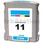HP 11 Compatible Cyan Inkjet Cartridge C4836AA - 1,830 Pages